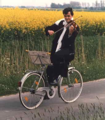 Violinista a due ruote
