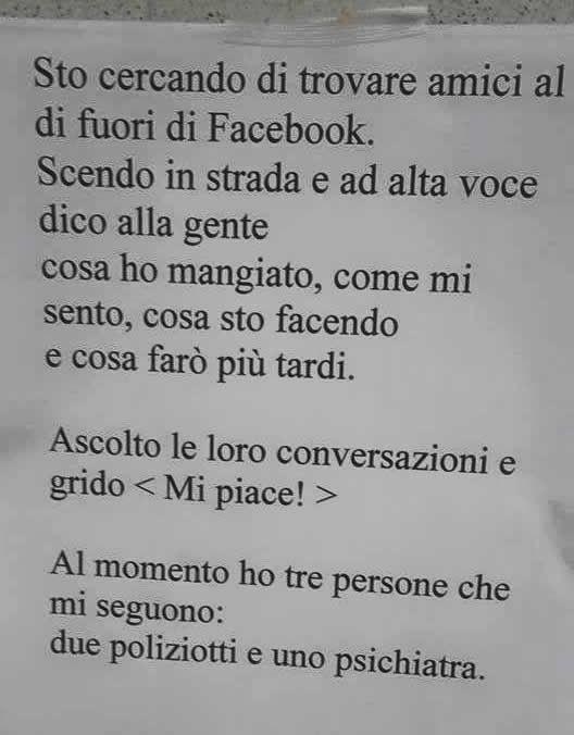 Amici fuori Facebook