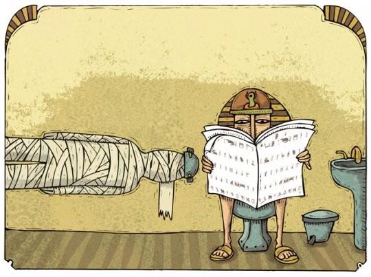 Al cesso nell'antico Egitto