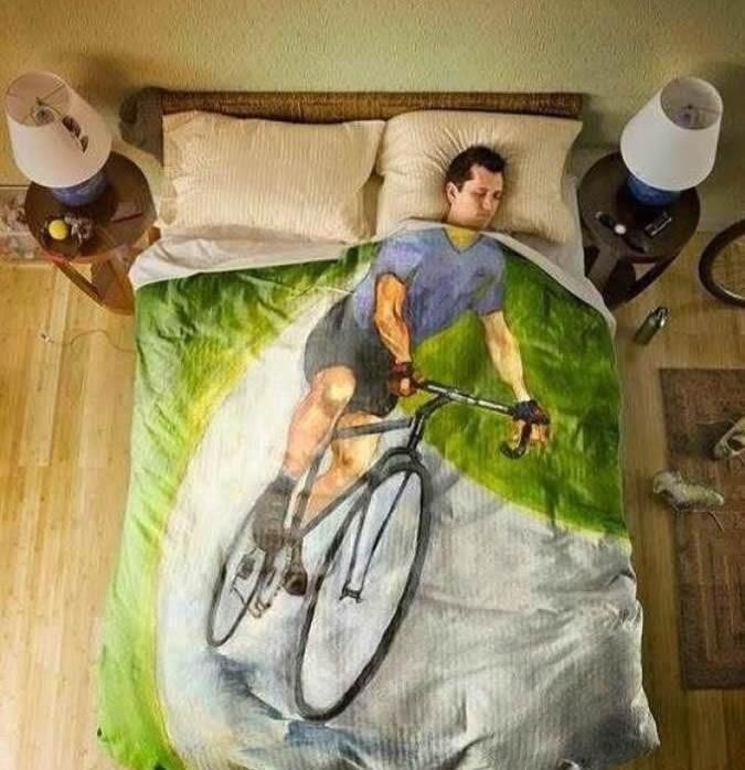 A letto con la bici