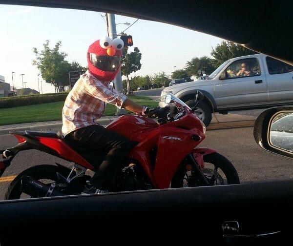 Muppet biker