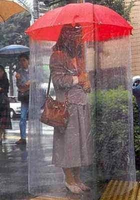 dopo il  parrucchiere in caso di pioggia