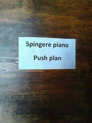 Spingere piano