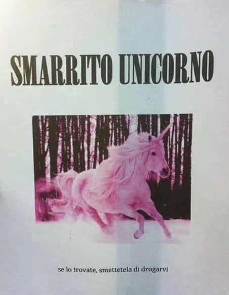 Smarrito unicorno