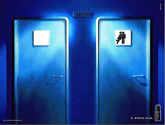 due cuori una toilette