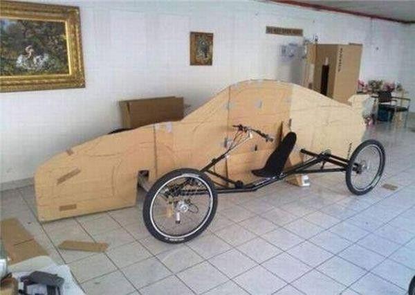 Auto di legno uscita male